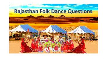 Best Rajasthan Folk Dance Questions