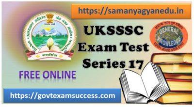 Best Online UKSSSC Forest Inspector Test Series 17