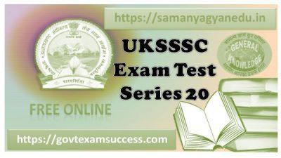 Best Online UKSSSC Forest Inspector Test Series 20