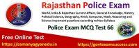 Best Online Rajasthan Police Exam Test Series 66