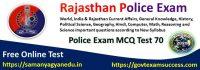 Best Online Rajasthan Police Exam Test Series 70