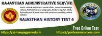 Most important Rajasthan Ka Aitihasik Kal Questions Test for RAS, RPSC 1st and 2nd grade teacher