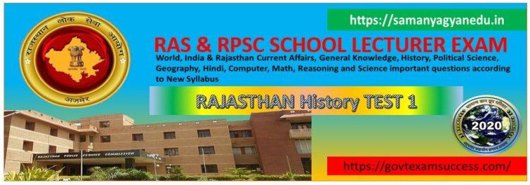 Most Important Rajasthan History Ke Puratatvik Strot Questions